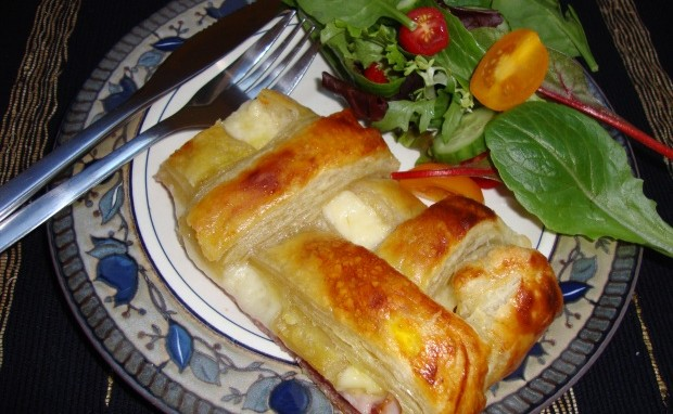 Ham and Cheese Cradled in Puff Pastry