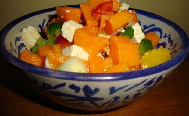 Tofu and Sweet Potato Salad