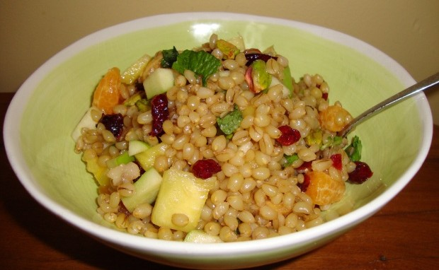 Fruit-Nut Wheat Berry Salad