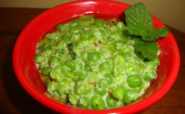 Spicy, Creamy and Minty Mashed Peas