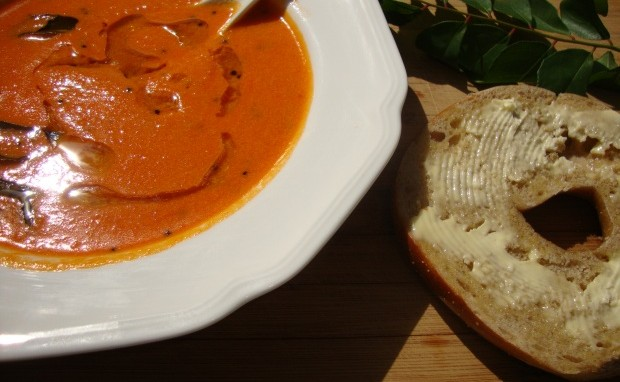 South-Indian Spiced Cream of Tomato Soup