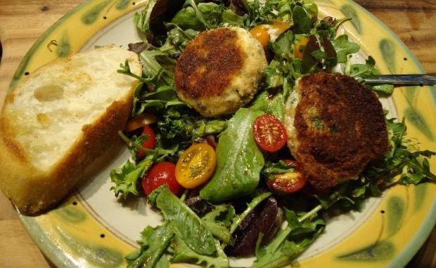 Warm Herbed Chevre Salad