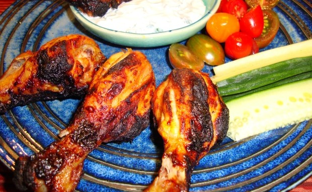 Tandoori Honey and Saffron Infused Chicken Drumsticks