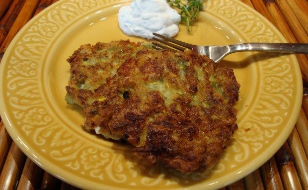 Summer Squash Pancakes with a Turkish Twist