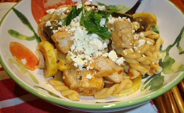 Mediterranean Swordfish Pasta