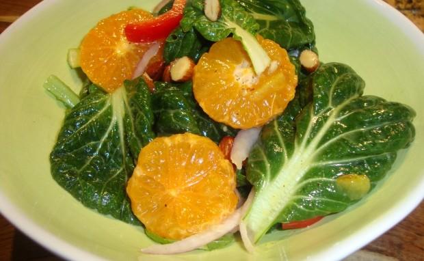 Tatsoi-Citrus Salad