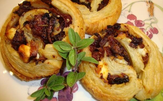 Caramelized Onions and Feta Pinwheels
