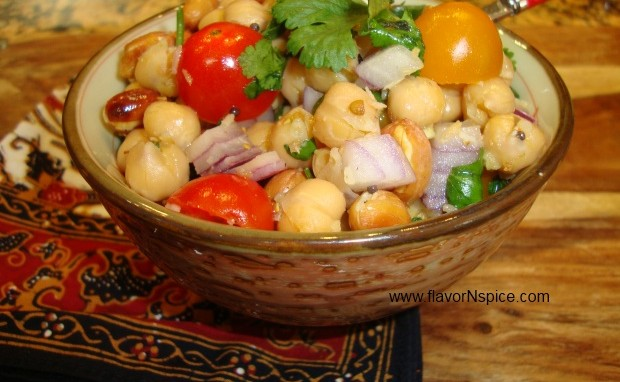 Chickpea and Desiccated Coconut Salad