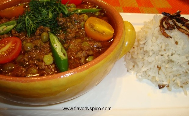 Ground Meat/Keema Curry with Fresh Dill
