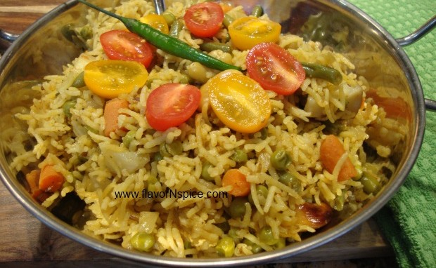 Spicy Vegetable Rice Pilaf