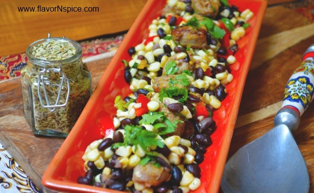 Italian Sausage, Beans and Corn Tropical Salad