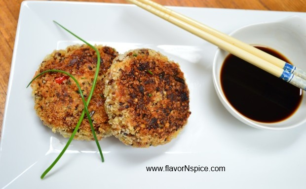 Teriyaki Salmon and Quinoa Cakes