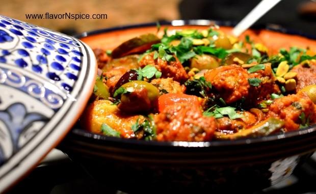 Chicken Kefta/Meatball Tagine