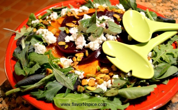 Curry Roasted Butternut Squash and Goat Cheese Salad
