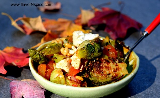 Mediterranean Roasted Brussels Sprouts Salad