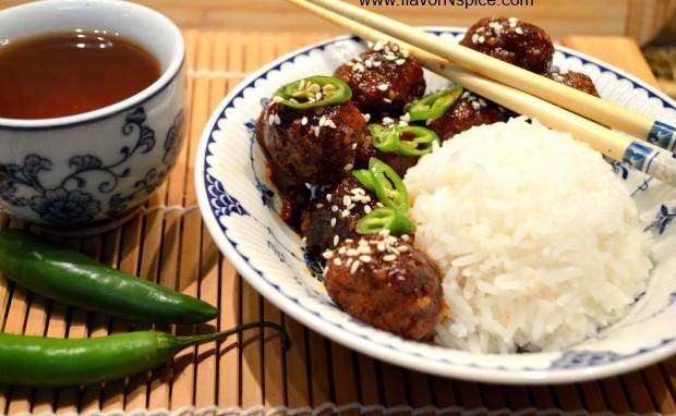Teriyaki-Sriracha Meatballs