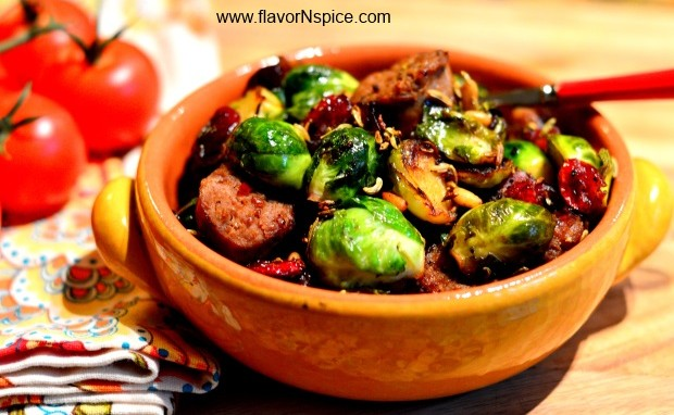 Italian Sausage and Brussels Spouts