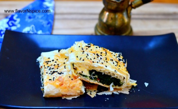Turkish Spinach and Cheese Borek