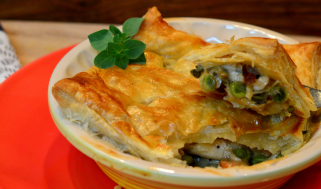 Chicken Pot with Puff Pastry Crust