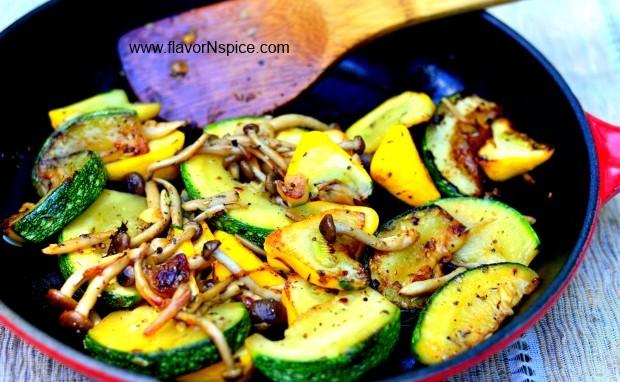 Stir-fried Spring Vegetables with Herbs de Provence