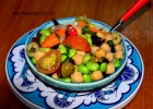 Edamame and Chickpea Salad with Olives and Citrus Vinaigrette