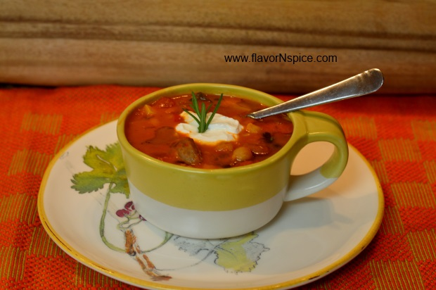 sausage, beans and veggie soup-1