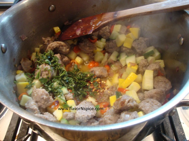 sausage, beans and veggie soup-12