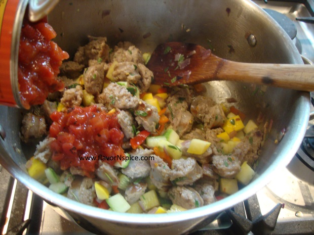 sausage, beans and veggie soup-13