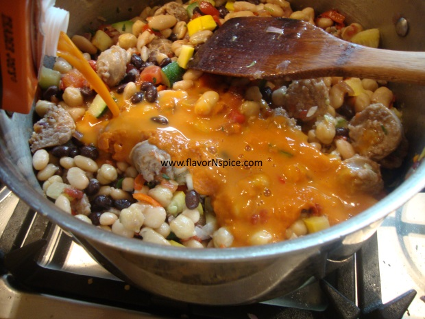 sausage, beans and veggie soup-15