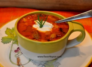 sausage, beans and veggie soup-2