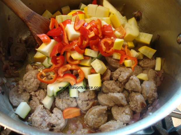 sausage, beans and veggie soup-9