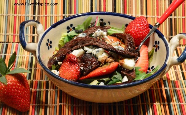 Skirt Steak and Strawberry Salad