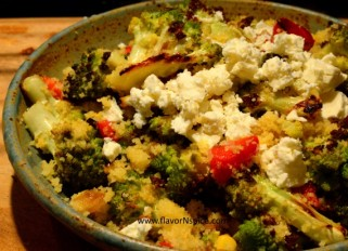 Roasted Romanesco Cabbage with Couscous-10