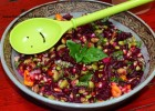 Edamame, Beets and Pomegranate Salad