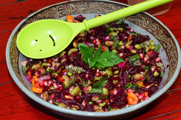 Edamame, Beets and Pomegranate Salad-11