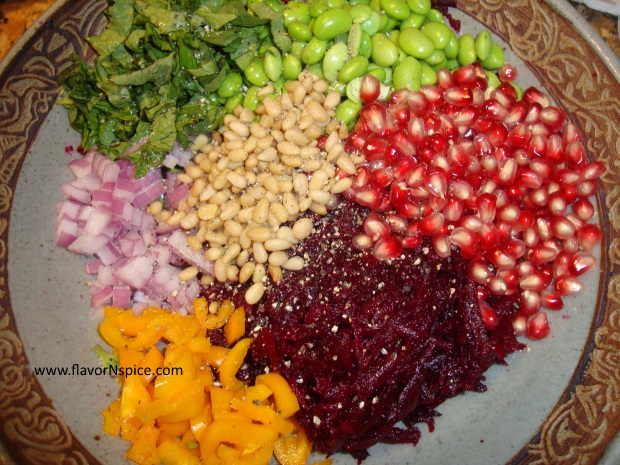 Edamame, Beets and Pomegranate Salad-8