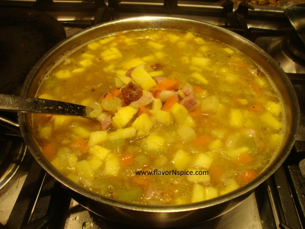 Leftover Ham-bone Soup-13
